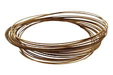 Memory Wire Antique Brass (plated) Oval Bracelet .35 oz.