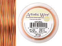 Artistic Wire Natural 24 gauge, 20 yards