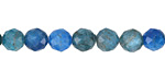 Pacific Blue Apatite Faceted Round 7-8mm