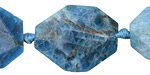 Pacific Blue Apatite Faceted Flat Slab 24-38x20-26mm