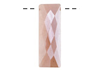 Peach Moonstone w/ Mystic Luster Faceted Rectangle Drop 12x30mm