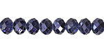 Metallic Cobalt (w/ etched facets) Crystal Faceted Rondelle 8mm