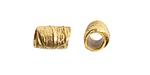 Nunn Design Antique Gold (plated) Leaf Barrel 12x7.5mm