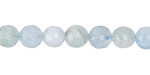 Aquamarine Faceted Round 8mm