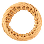 Natural Rattan-Style Twisted Woven Ring Focal 40-44mm