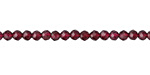 Garnet Faceted Rondelle 3x3.5-4mm