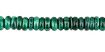 Malachite Rondelle 7mm