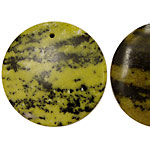 Yellow Turquoise Coin 35-38mm