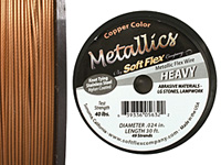 "Soft Flex Copper Metallic .024"" (Heavy) 49 Strand Wire 30ft."