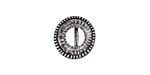 Zola Elements Antique Silver (plated) Beaded Round Bezel 7mm Flat Cord Slide 14mm