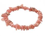 Pink Rhodochrosite Chips Stretch Bracelet
