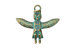 Zola Elements Patina Green Brass (plated) Owl Totem Charm 30x27mm