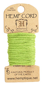 Lime Green Hemp Twine 20 lb, 20 ft