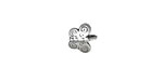 Antique Silver (plated) Butterfly 2mm Cord End with Eye 9mm