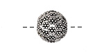 Antique Silver (finish) Lychee Round 14-15mm