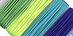 Beadalon Elonga Blue & Green Mix Elastic Stretch Cord 0.7mm, 5m x 4 colors