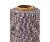 Lavender Grey & Metallic Silver Hemp Twine 20 lb, 205 ft