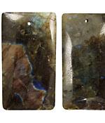 Labradorite Rectangular Pendant 28x50mm