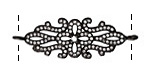 Vintage Style Clear Pave CZ Gunmetal (plated) Brooch Filigree Focal Link 42x14mm