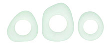 Seafoam Recycled Glass Freeform Ring 17-26mm