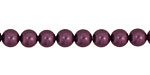 Eggplant Shell Pearl Round 6mm