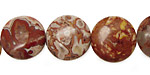 Rosetta Lace Agate Puff Coin 16mm