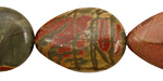 Red Creek Jasper Flat Teardrop 25x18mm