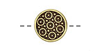 Antique Brass (plated) Circling Circles Button 15mm