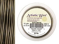 Artistic Wire Antique Brass 20 gauge, 15 yards