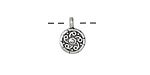 Antique Silver (plated) Pinwheel Charm 9x13mm