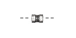 Zola Elements Antique Silver (plated) Hex Nut Bead Slide 8x6mm