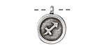 Greek Pewter Sagittarius Pendant 15x18mm