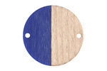 Wood & Indigo Resin Coin Focal Link 28mm