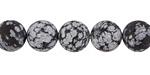 Snowflake Obsidian (matte) Round 10mm