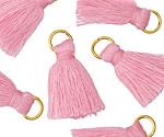 Garden Pink w/ Jump Ring Thread Tassel 20mm