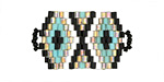 Blue Agave Hand Woven Focal Piece 30x18mm