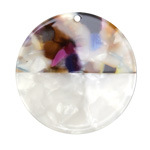 Zola Elements Garden Party & Pearl Acetate Coin Focal 40mm
