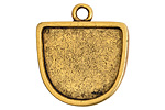 Nunn Design Antique Gold (plated) Grande Half Oval Pendant 28x31.5mm