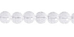 Rock Crystal Faceted Round 8mm