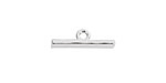 Nunn Design Sterling Silver (plated) Small Hammered Toggle Bar 19x4mm