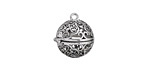 Antique Silver Finish Scrollwork Diffuser Locket 17x18mm