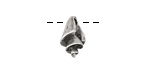 Greek Pewter Queen Conch Shell 4x14mm