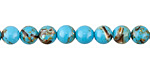 Turquoise Mosaic Shell Round 6mm
