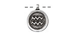 Greek Pewter Aquarius Pendant 15x18mm