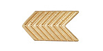 Zola Elements Matte Gold (plated) Chevron Arrow 5mm Flat Cord Slide 28x16mm