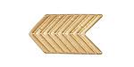 Zola Elements Matte Gold (plated) Chevron Arrow 5mm Flat Cord Slide 28x16mm