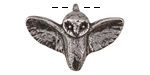 Green Girl Pewter Flying Owl 33x23mm