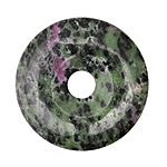 Ruby Zoisite Donut 40mm