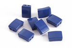 Navy Blue Enamel 2-Hole Tile Rectangle Bead 12x8mm