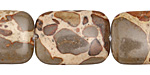 African Brown Rhyolite Thin Pillow 25x18mm